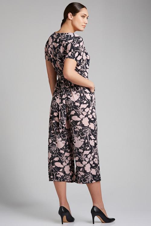 Grace Hill Knit Waist Detail Jumpsuit