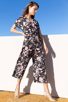 Grace Hill Knit Waist Detail Jumpsuit - 232962