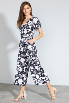 Grace Hill Knit Waist Detail Jumpsuit - 232962