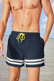 Next Two Stripe Swim Shorts