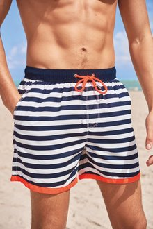 Next Stripe Swim Shorts