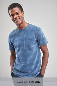 Next Textured Wash Stripe T-Shirt