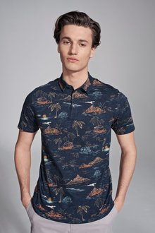 Next Mountain Print Polo