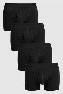 Next Plain Waistband A-Fronts Pure Cotton Four Pack