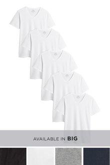 Next V-Neck T-Shirts Five Pack - 233074