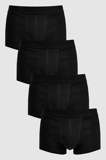 Next Plain Waistband Hipsters Pure Cotton Four Pack