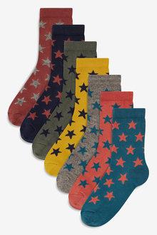 Next Star Socks Seven Pack (Older)
