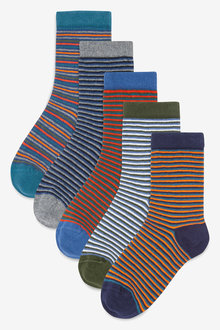 Next Stripe Socks Five Pack (Older)