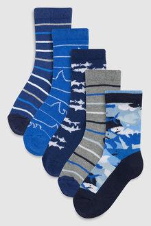 Next Shark Socks Five Pack (Older)