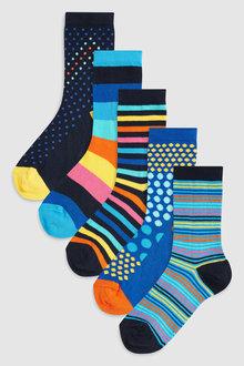 Next Spot/Stripe Socks Five Pack (Older)