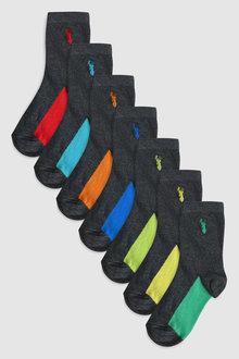 Next Stag Embroidered Socks Seven Pack (Older)
