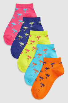 Next Palm Print Socks Five Pack (Older)