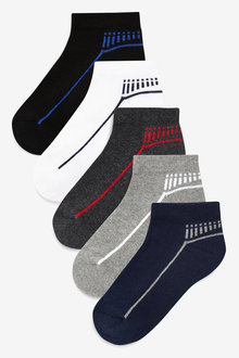 Next Cushioned Footbed Trainer Socks Five Pack (Older) - 233114