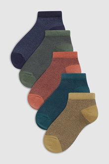 Next Stripe Trainer Socks Five Pack (Older)