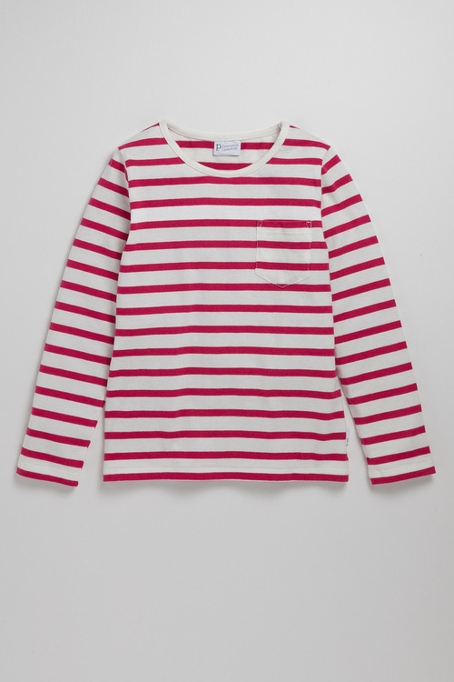 Pumpkin Patch Girls Long Sleeve Pocket Stripe T-shirt