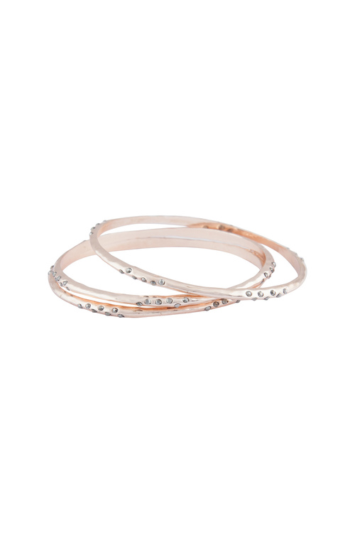 Amber Rose Organic Bangle Set