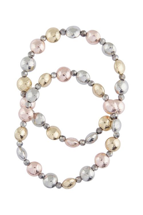 Amber Rose Lentil Stretch Bracelet Set