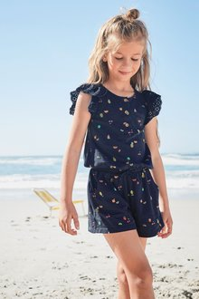 Next Broderie Playsuit (3-16yrs)