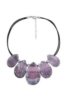 Amber Rose Gelato Resin Short Necklace