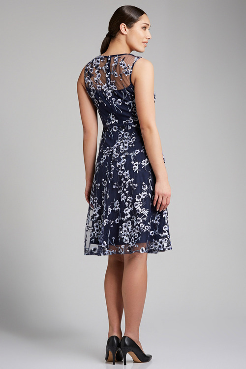 Grace Hill Embroidered Lace Dress