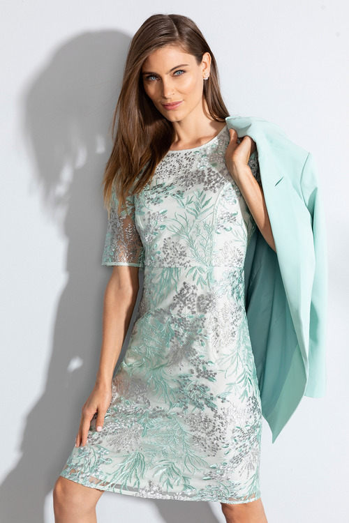 Grace Hill Embroidered Dress