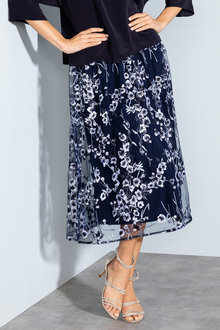 Grace Hill Embroidered Lace Skirt - 233155
