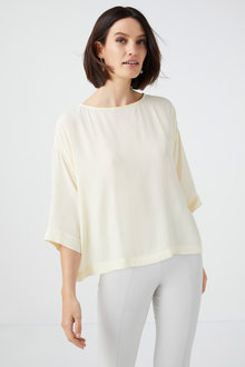 Grace Hill Silk Blend Boxy Top - 233156