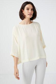 Grace Hill Silk Blend Boxy Top - 233156