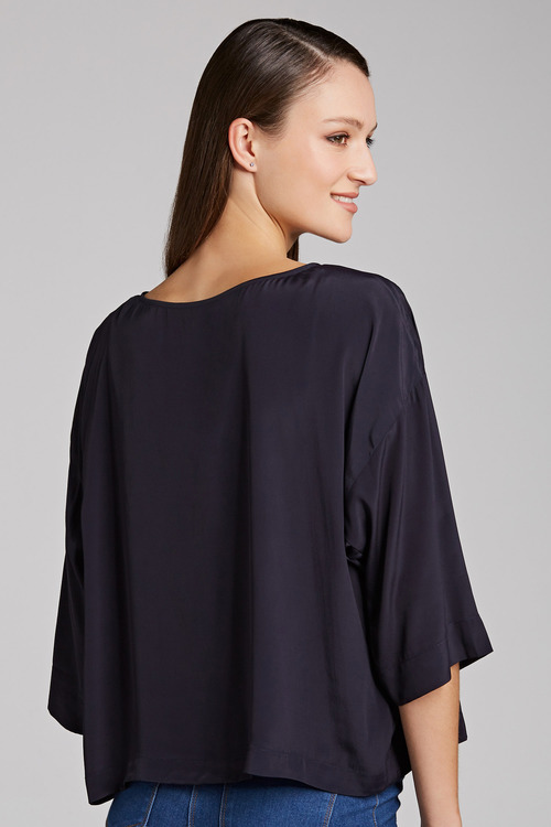 Grace Hill Silk Blend Boxy Top