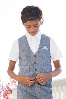 Next Short Sleeve Waistcoat Set (12mths-16yrs)