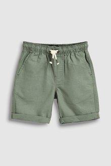 Next Linen Blend Pull-On Shorts (3-16yrs)