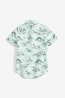 Next Short Sleeve Dino Print Shirt (3-16yrs)