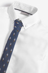 Next Long Sleeve Shirt and Tie (3-16yrs)
