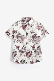 Next Short Sleeve Floral Shirt (3-16yrs)