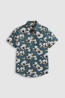 Next Short Sleeve Poppy Printed Shirt (3-16yrs)
