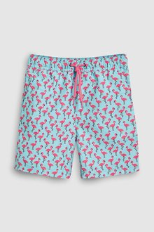 Next Flamingo Print Swim Shorts (3-16yrs)
