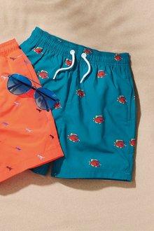 Next Fish Print Swim Shorts (3-16yrs)