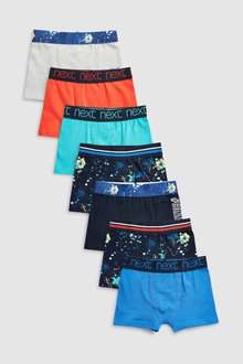 Next Paint Splat Trunks Seven Pack (2-16yrs)