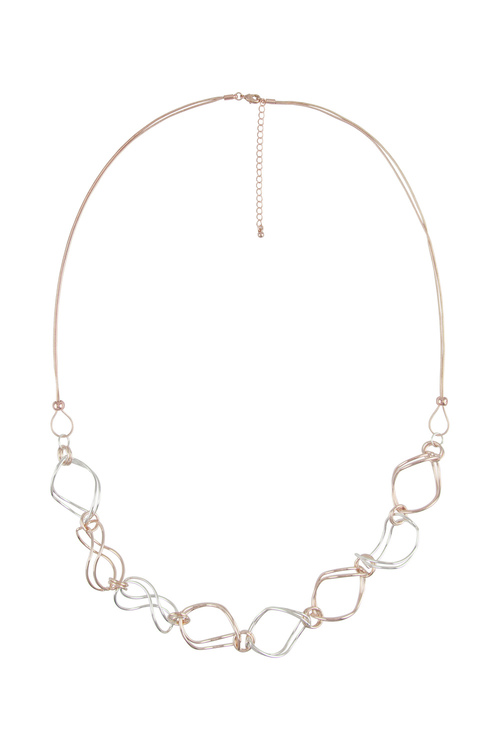 Amber Rose New Naturals Two Tone Necklace