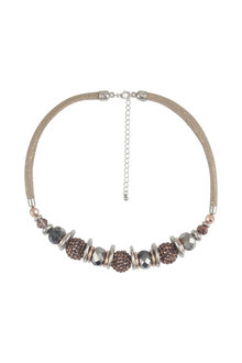 Amber Rose Round and Sparkly Statement Necklace