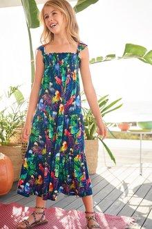 Next Parrot All Over Print Maxi Dress (3-16yrs)