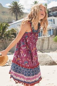 Next Print Pom Pom Maxi Dress (3-16yrs)