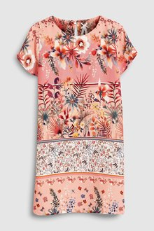 Next Mix Print Shift Dress (3-16yrs)