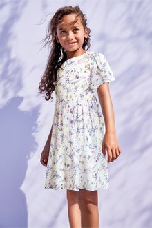 Next Embroidered Ditsy Dress (3-16yrs)