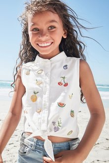 Next Fruit Tie Front Blouse (3-16yrs)