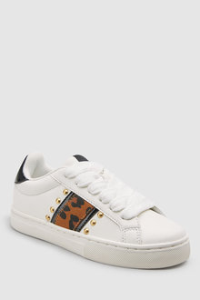 Next Animal Stripe Lace-Up Trainers (Older)