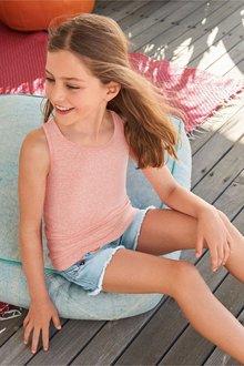 Next Crochet Detailed Strappy Vest (3-16yrs)