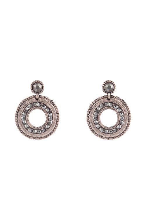 Amber Rose Sparkly Wheel Drop Earrings