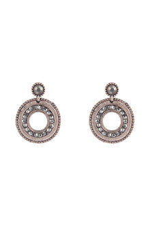 Amber Rose Sparkly Wheel Drop Earrings
