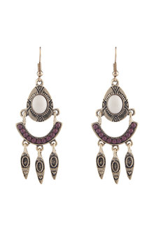 Amber Rose Ethnic Drop Earring